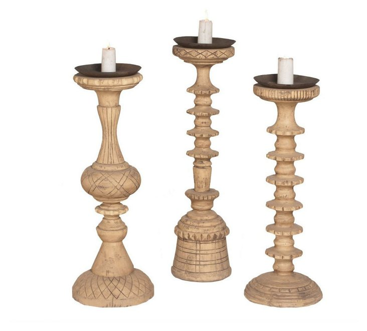 Grandon House Candle Stands, Asst. of 3