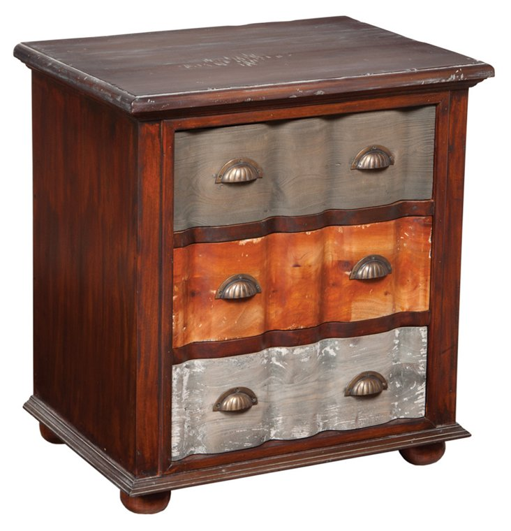 London 3-Drawer Side Chest