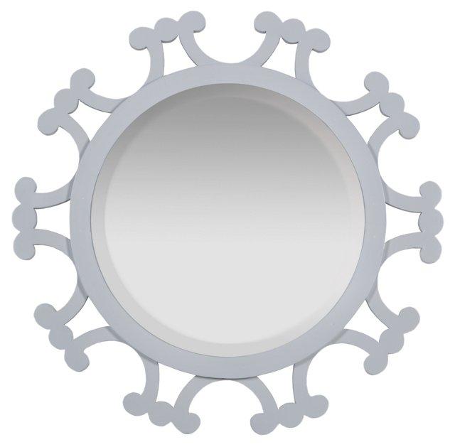 """34"""" Amalia Mirror, White"""