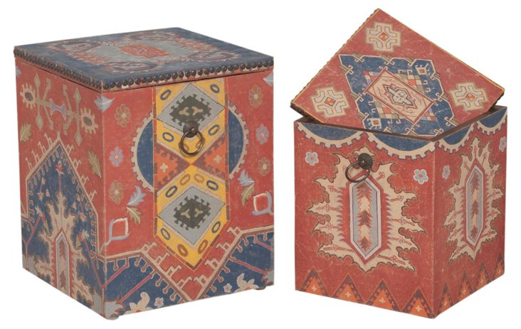 Tapestry Boxes, Asst. of 2
