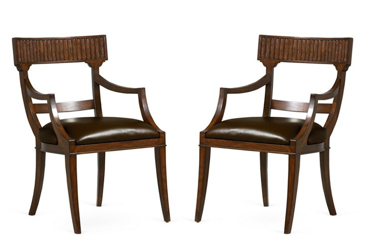 Caracole Take A Seat Armchair, Pair