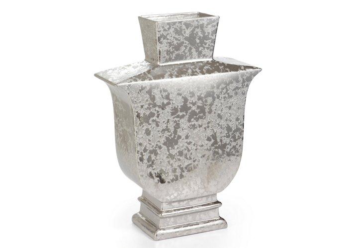 Mottled Metallic Vase, Small
