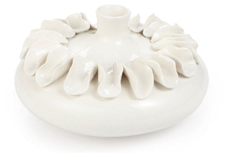 Chips Bulb Vase, White