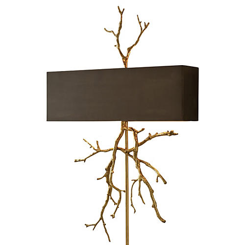 Twig Electrified 2-Light Sconce, Brass
