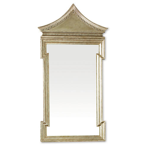 "Fincastle 26""x50"" Oversize Mirror, Pewter"