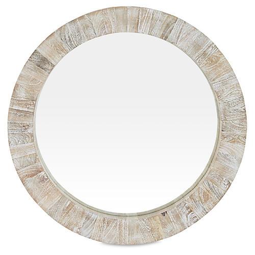 """Driftwood 37"""" Round Mirror"""