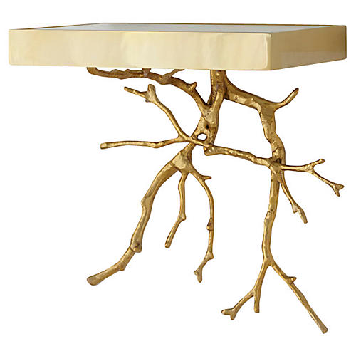 Twig Wall Bracket, Brass