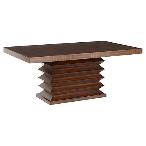 "Zig Zag 112"" Dining Table, Walnut"