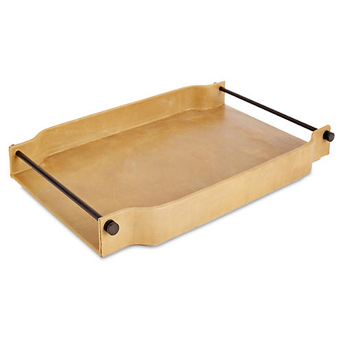Serpentine Serving Tray, Camel