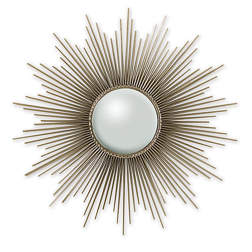 Rods Sunburst Mirror, Nickel
