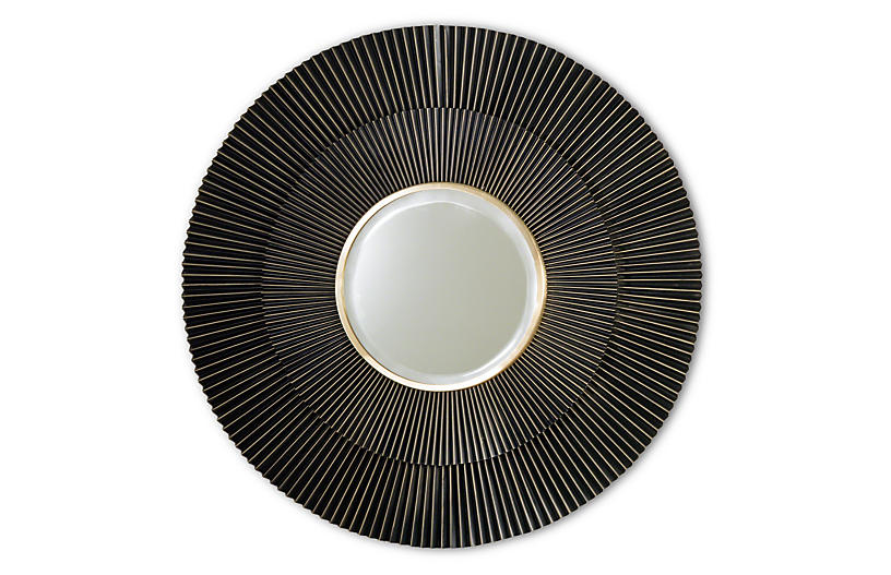 Spokes Sunburst Mirror, Bronze
