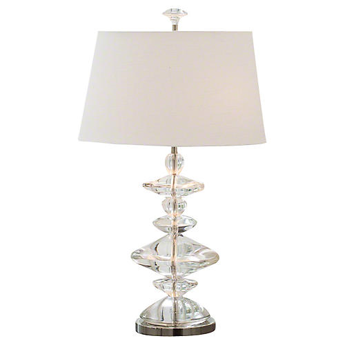 Tribal Table Lamp, Clear
