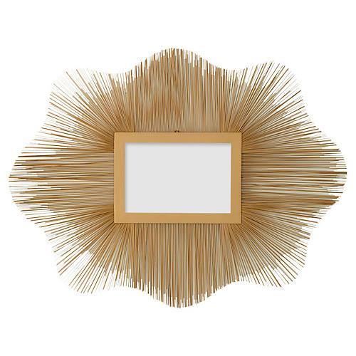 "Venice 31"" Wire Wall Mirror, Gold"