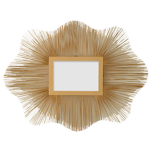 "Venice 31"" Wire Wall Mirror, Gold"