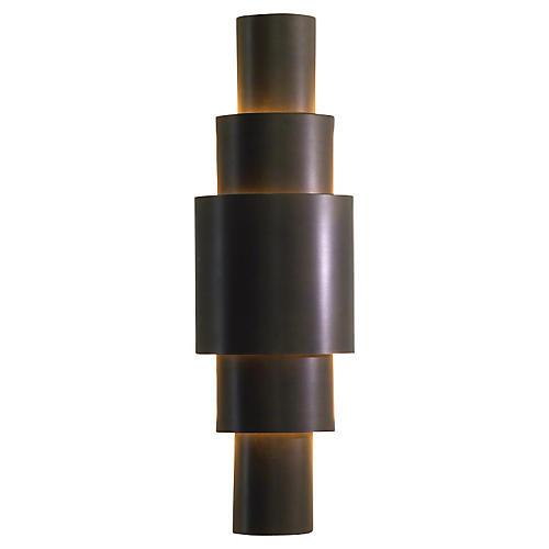 Babylon Sconce Hardwired, Bronze