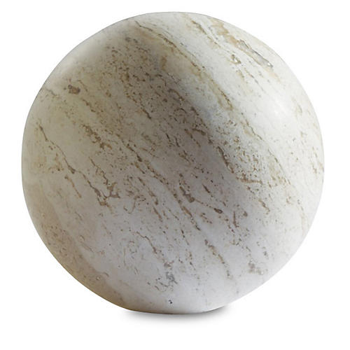 Travertine Sphere, Tan