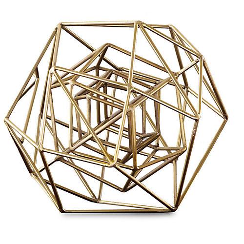 Geo Sculpture, Gold