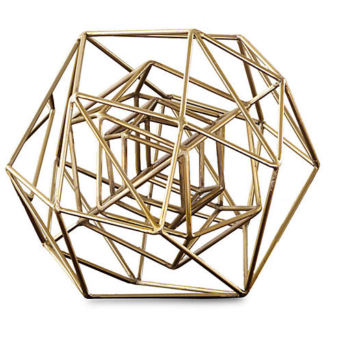 Geo Sculpture, Gold