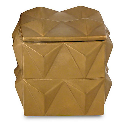 Braque Decorative Box, Matte Gold