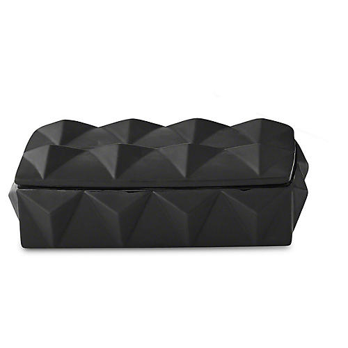 "11"" Braque Decorative Box, Matte Black"