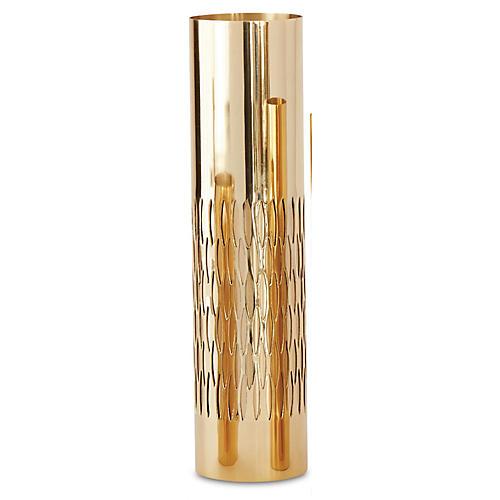 "16"" Bracelet Vase, Gold"