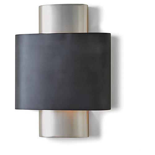 Nordic Sconce, Gunmetal/Nickel