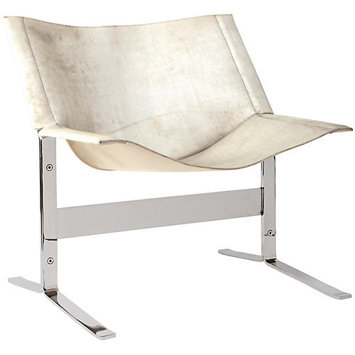 Cantilever Accent Chair, White