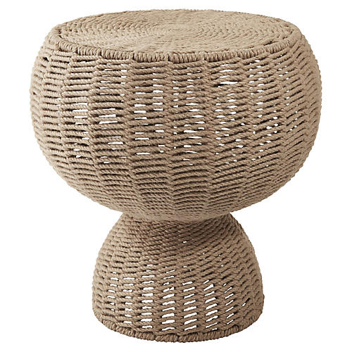 Rope Side Table, Tan
