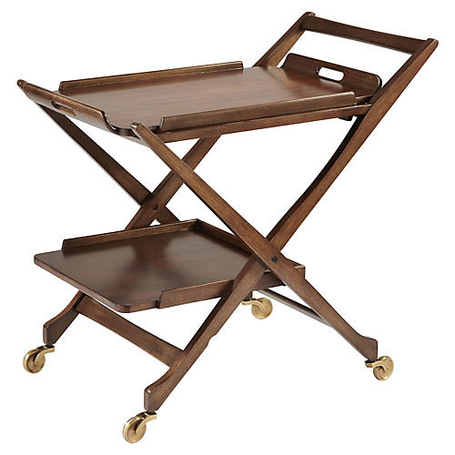 Hemingway 2-Tiered Bar Cart, Java