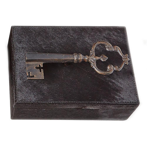 "11"" Sophia's Key Large Box, Black"