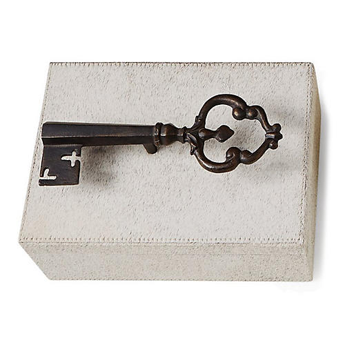 "11"" Sophia's Key Large Box, White"