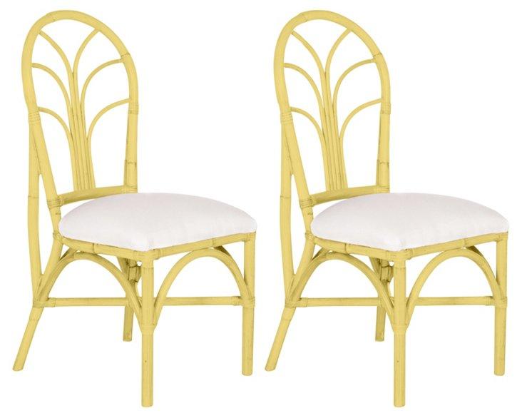 Yellow Bermuda Chairs, Pair