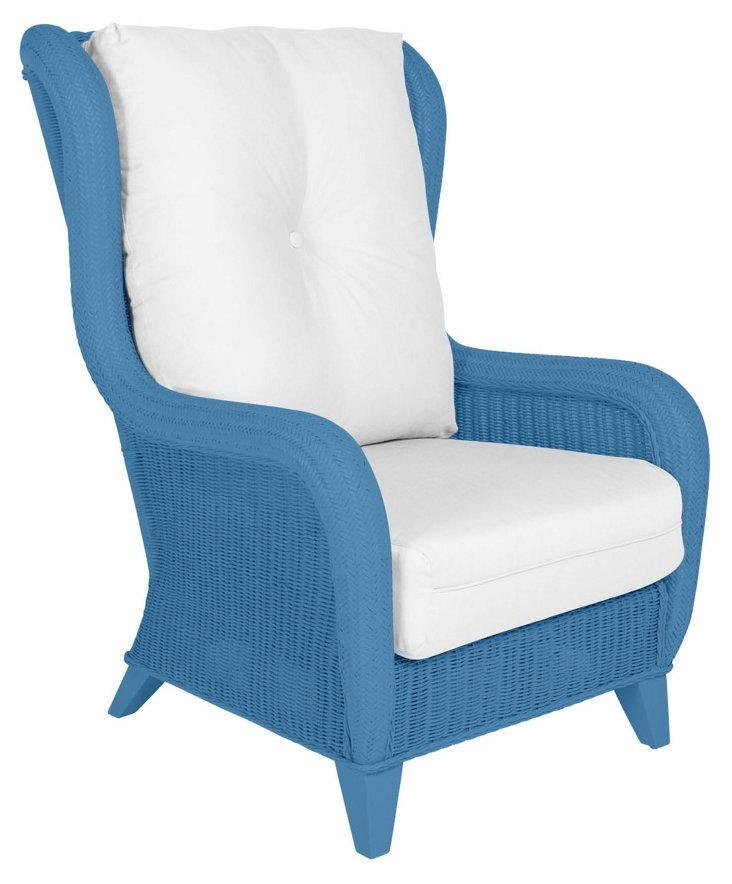 Kelly Wing Chair, Blue