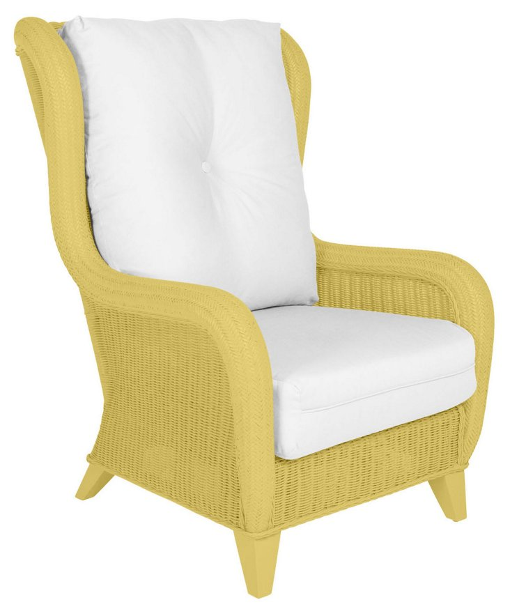 Kelly Wing Chair, Yellow