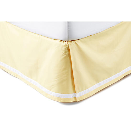 Groton Swirl Bed Skirt, Yellow