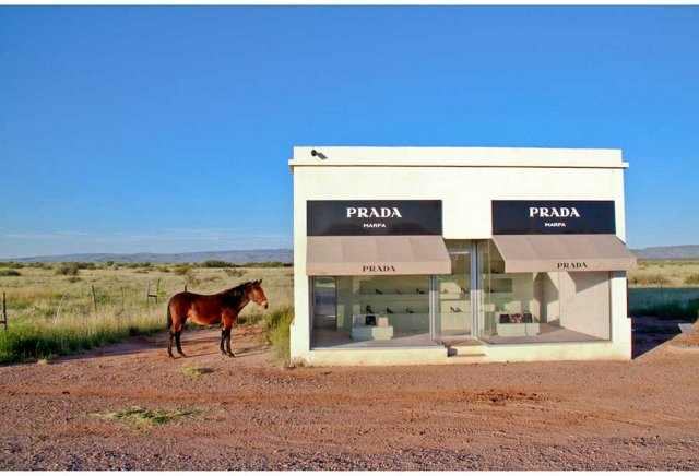 Prada Marfa with Mule