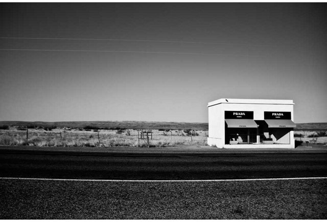 Gray Malin, Prada Marfa Black and White