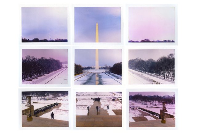 Nine Polaroids: Washington Monument
