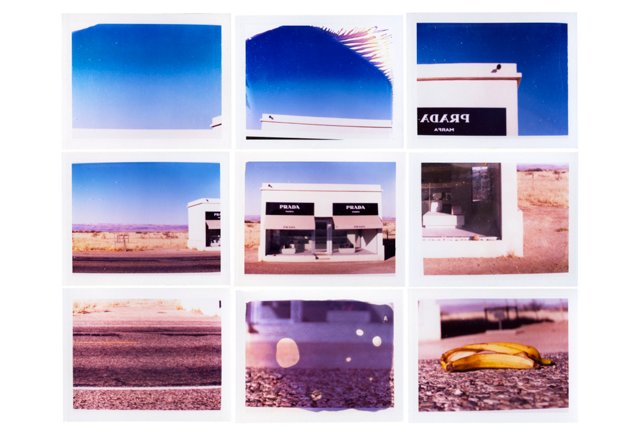 Nine Polaroids: Prada Marfa