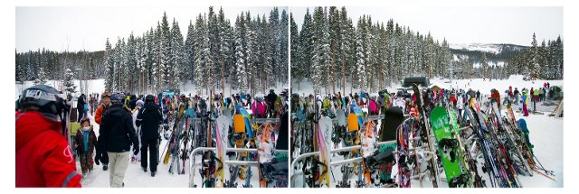 Ski Stand Horizontal Diptych
