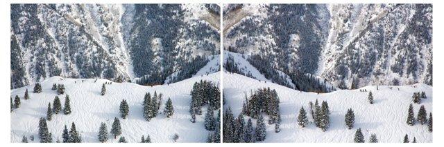 Gray Malin, Aspen Ski Climbers Diptych