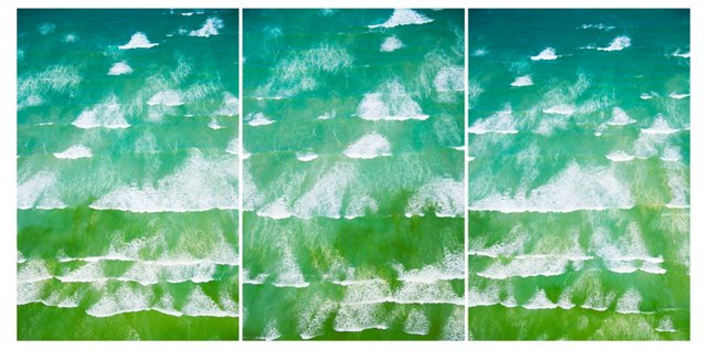 Gray Malin, Waves of Cape Town Triptych