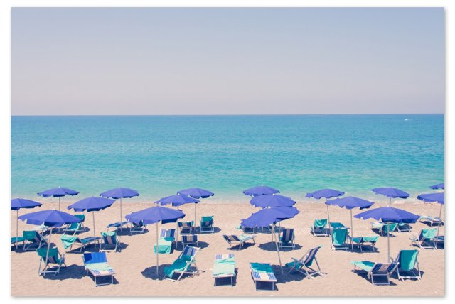 Capo d'Orlando Blue Umbrellas