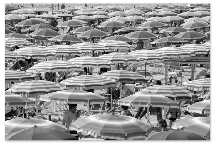 Riccione Black and White Umbrellas