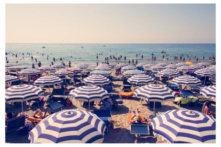 Gray Malin, Cefalu Blue Umbrellas