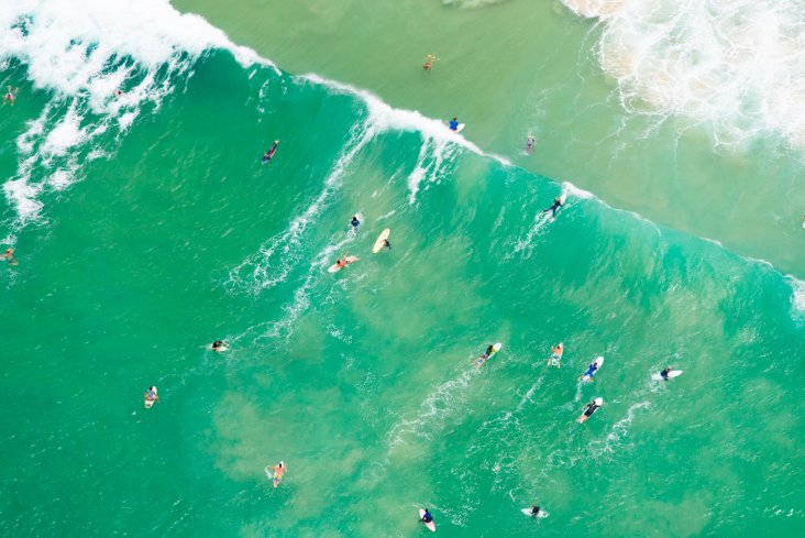 Gray Malin, Bondi Beach Surfers II