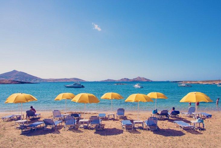 Paros Yellow Umbrellas Oversize