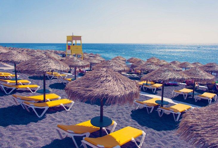 Gray Malin, Yellow Chairs, Santorini
