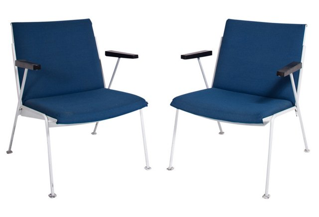 Wim Rietveld Oase Chairs, Pair