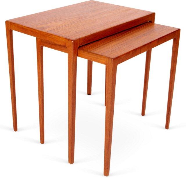 Teak Nesting Tables, Set of 2